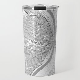 St Louis Map Line Travel Mug