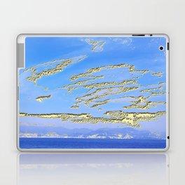 Mediterranean sky with mountains Laptop & iPad Skin