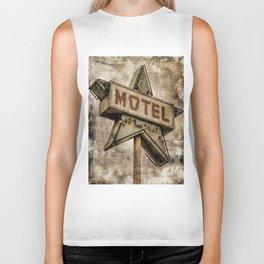 Vntage Grunge Star Motel Sign Biker Tank