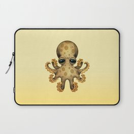 Cute Brown and Yellow Baby Octopus Laptop Sleeve
