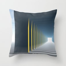 Linear Perspective of Light Throw Pillow