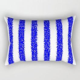 Blue Striped Rectangular Pillow