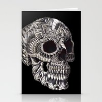 bioworkz Stationery Cards featuring Ornate Skull by BIOWORKZ