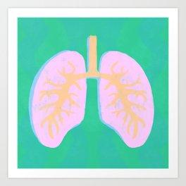 Happy lungs Art Print