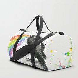 Raven Tastes the Rainbow Duffle Bag