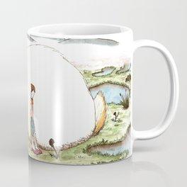 Bunny and Girl Coffee Mug