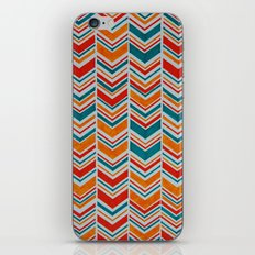 Teal, Red and Goldenrod chevron iPhone & iPod Skin