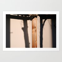 Wooden Shadows Art Print