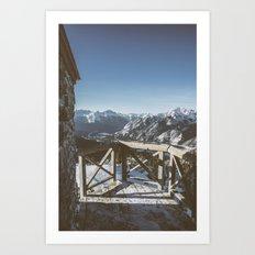 Mountaintop Lookout  Art Print