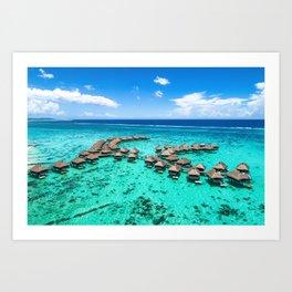 Tahiti paradise honeymoon vacation destination Art Print