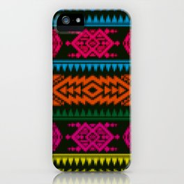 Ethnic Knitted pattern iPhone Case