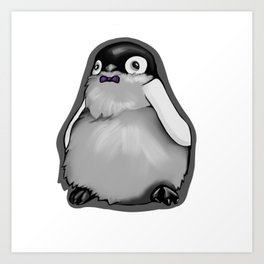 Penguin with Bowtie Art Print