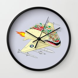 Taco Fighter Jet Wall Clock