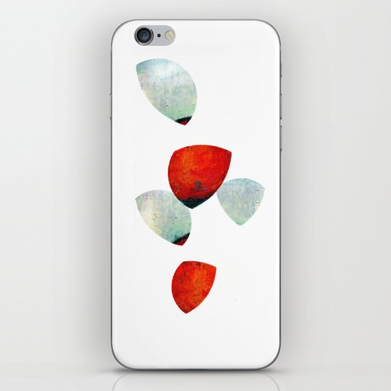 composition in red and grey iPhone & iPod Skin