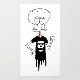 Squid Punx Art Print