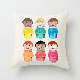Little Girls Throw Pillow