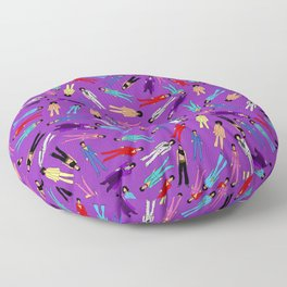 Purple Pattern 2 Floor Pillow
