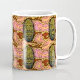 Gold Green Tiki Coffee Mug