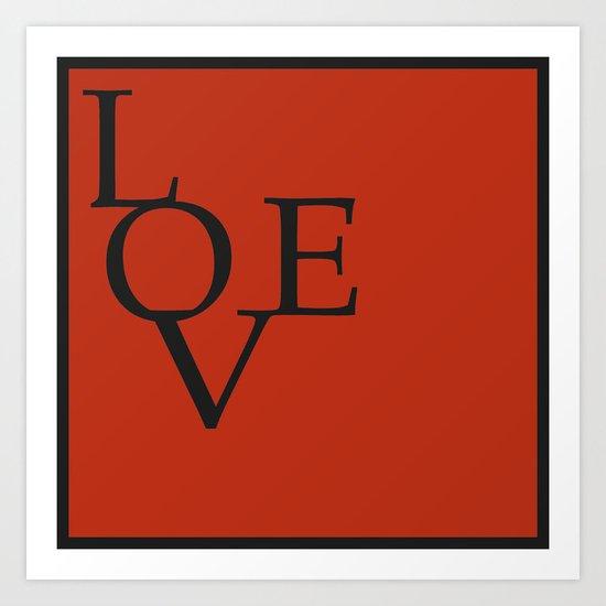 LOVE RED Art Print