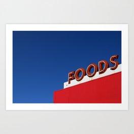 Foods Art Print