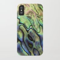 ghost in the shell iPhone & iPod Cases featuring Sea Shell Texture by Patterns and Textures