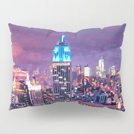 Empire State Building Feeling Like A Blue Giant Pillow Sham