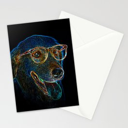 Geek Dog Stationery Cards