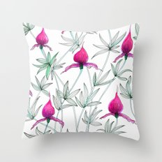 small purple flowers Throw Pillow