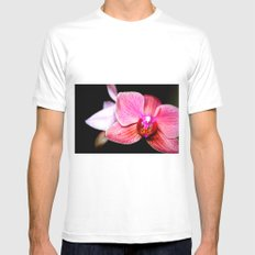 Orchid 3 Mens Fitted Tee White MEDIUM