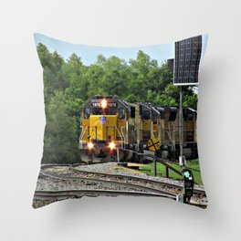 Train by the River, Baton Rouge Throw Pillow