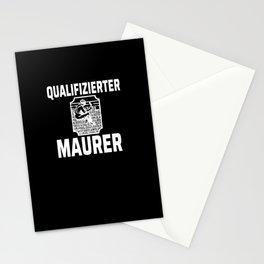 Qualified craftsmen bricklayer Stationery Cards