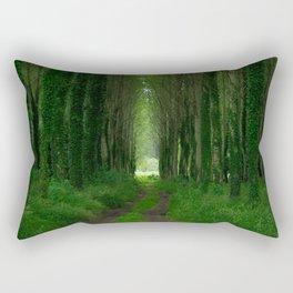 Green Path Rectangular Pillow