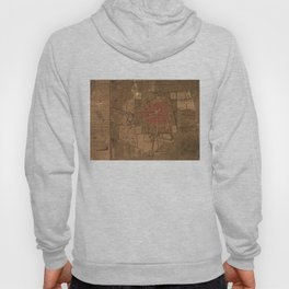 Vintage Map of Mexico City Mexico (1800) Hoody
