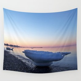Icebergs on the Beach Wall Tapestry