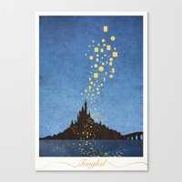 tangled Canvas Prints featuring Tangled by Mads Hindhede Svanegaard