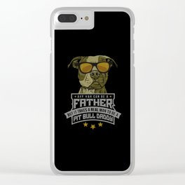 pit bull daddy Clear iPhone Case