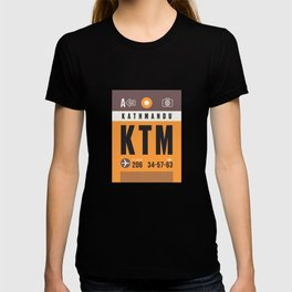 Luggage Tag A - KTM Kathmandu Tribhuvan Nepal T-shirt
