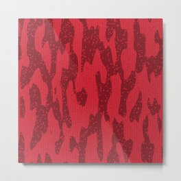 Abstract wavy red Metal Print