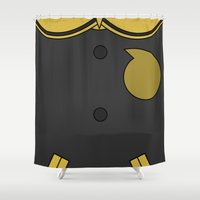 soul eater Shower Curtains featuring Soul Eater Evans Jacket by Bunny Frost