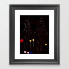 Girl in Forest Framed Art Print