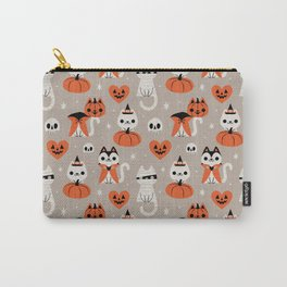 Halloween Kitties (Gray) Carry-All Pouch