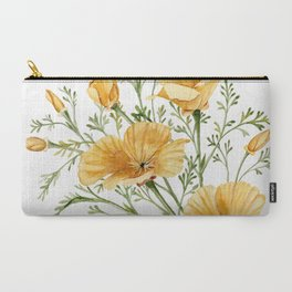 California Poppies - Watercolor Painting Carry-All Pouch
