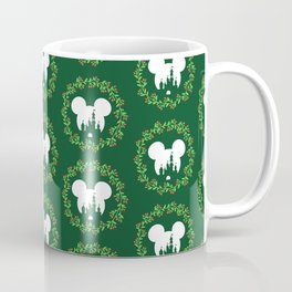 Fairytale Castle Christmas Wreath Mouse Ears Coffee Mug