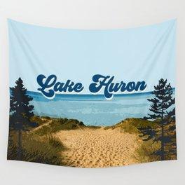 Lake Huron Retro Wall Tapestry