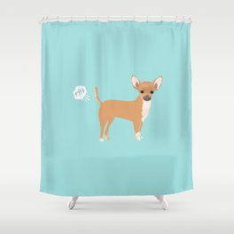 Chihuahua funny fart dog pure breed gifts dog lovers Shower Curtain