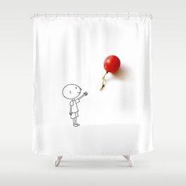 Grape balloon Shower Curtain