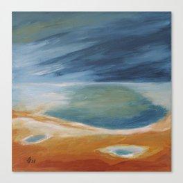Thermal Spring Landscape Canvas Print