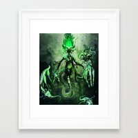 libra Framed Art Prints featuring LIBRA by SOMNIVAGRIOUS