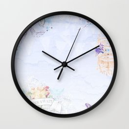 French vintage collage Wall Clock