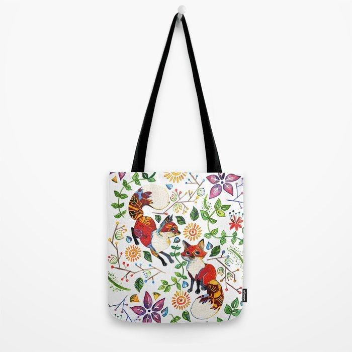 Fox Pattern Tote Bag